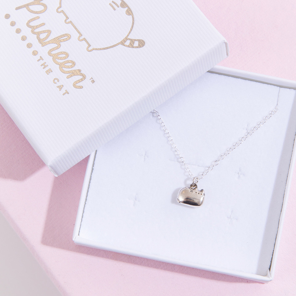 NEW at the Pusheen Shop! ✨The Pusheen Sterling Silver Charm Necklace makes a perfect addition to your jewelry collection or a memorable gift for that special someone 😻 bit.ly/31K7PRe