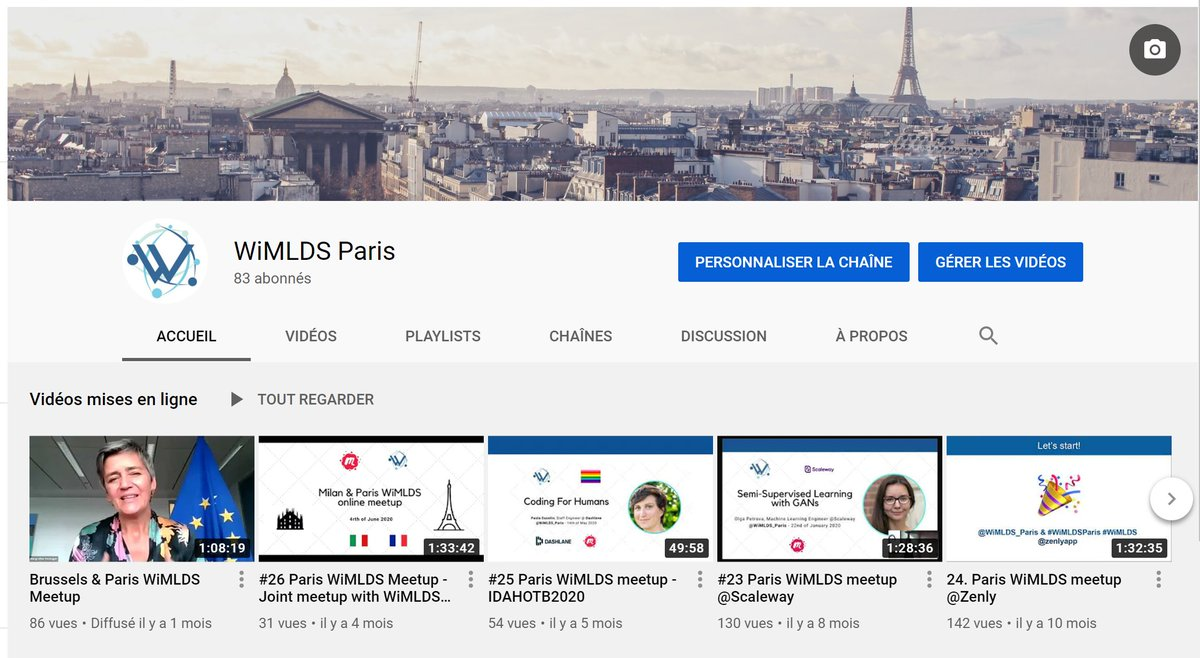 We miss meeting you #IRL during our #WiMLDSParis meetups!  📺 If you miss us and our speakers, feel free to check out our Youtube channel   Talks from @vestager, @PolaDuco, @0lga_petrova, @Mizar83 and more! #WiMLDS