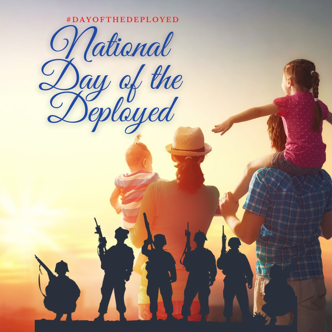 National Day of the Deployed is a day to recognize our men and women in the military who are deployed around the world. 🙏🏽 Leave a 💜 to thank them and their families for their sacrifice. #dayofthedeployed #military #veterans #deployed #sacrifice #service #positivevibes https://t.co/oMhvGb0dOQ