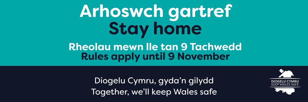 An important message to all #Gypsies, #Roma and #Travellers.   The @WelshGovernment has made new rules to slow the spread of #coronavirus.  Everyone in #Wales must stay at home from 18:00 on Friday 23 October until Monday 9 November 2020. https://t.co/XS7RJma3Gk