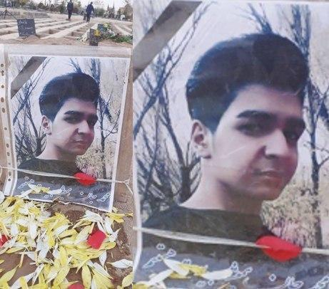 His name was Mohammad Taheri. He was 19 years old and only wanted the freedom of #Iran He was shot in the head by security forces during the Nov. 2019 #IranProtests. His body was buried in Tehran's Islamshahr district. We will never forget him. https://t.co/CYTvES4gv2