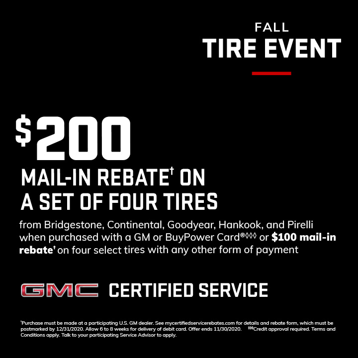 Are you looking for a new set of tires? Get a $200 mail-in rebate on your next set of tires right now at Bert Ogden Buick GMC in Edinburg. Don't wait, call us today. #Tireservice #Buick #GMC #Service https://t.co/s943pdYGbl