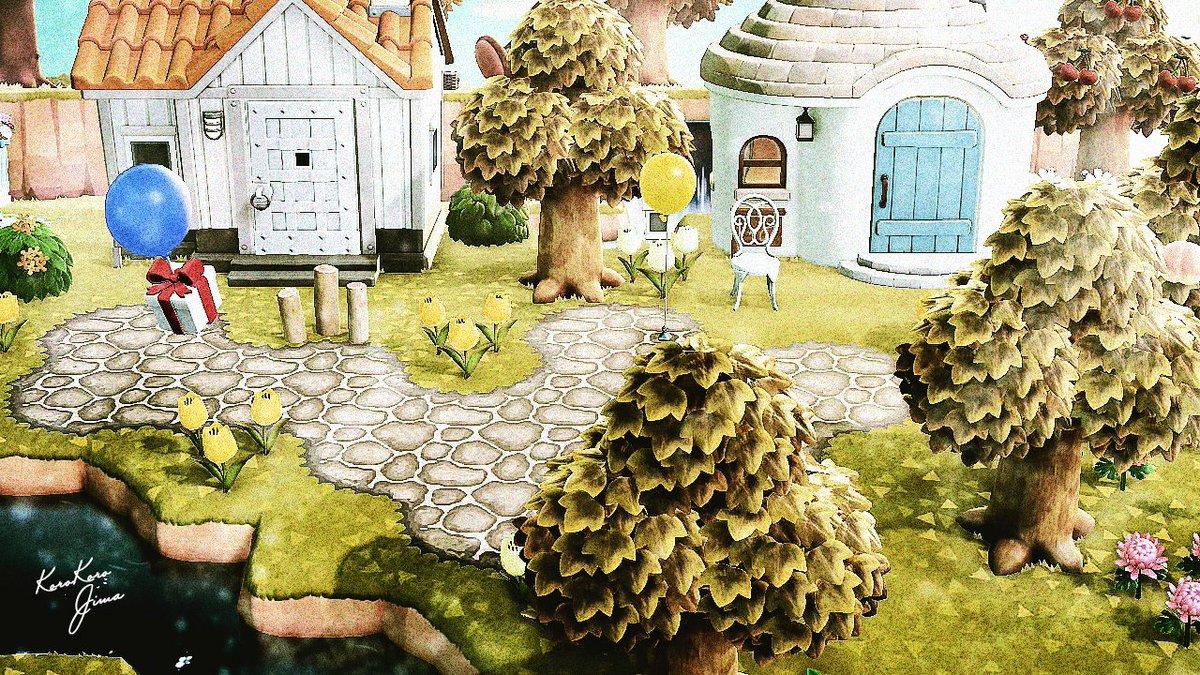 おはようございます🐻フレンドちゃん島👧で、黄みよりの家に合わせたい黄みよりの石畳を作成中。この島にはまだマイデザ枠が残っている…!!🤤グヘェ #あつ森 #あつまれどうぶつの森 #どうぶつの森 #AnimalCrossing #ACNH #NintendoSwitch #あつ森写真部 #マイデザイン #ThePathACNH