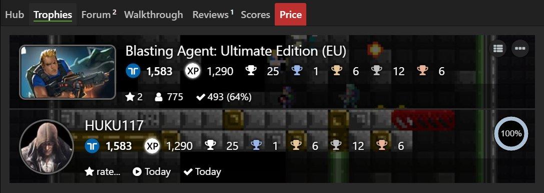 Blasting Agent: Ultimate Edition [EU] (PS4) Platinum#175 & 100% Complete  #TrophyHunter #PlatinumTrophy #PlayStation #PS4 #PS4Share #BlastingAgent #RatalaikaGames #AxolStudio https://t.co/m3Log0QAR9