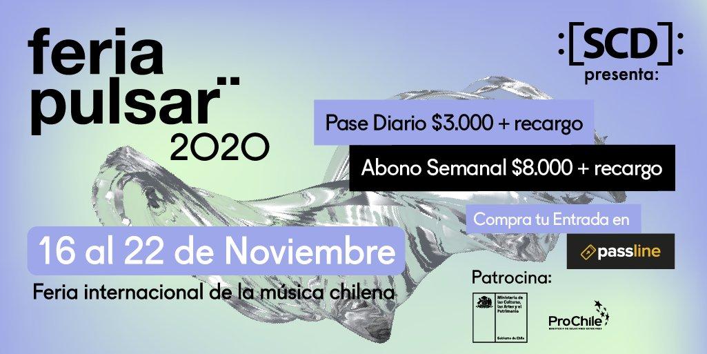 test Twitter Media - 🎵 FERIA INTERNACIONAL DE LA #MÚSICACHILENA. Tickets #FeriaPulsar2020 en https://t.co/WpytczSyR1 + horarios de conciertos online. 🔊PASE DIARIO: Para todos los shows online del día para el que fue comprado. 🔊ABONO GENERAL: Para todos los shows (20, 21 y 22 de noviembre). https://t.co/mu3XEh8Ffn