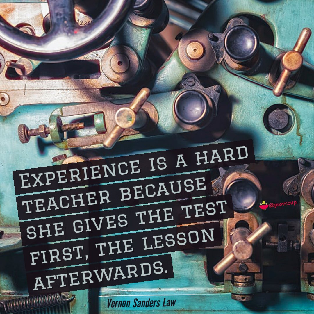 """""""Experience is a hard teacher because she gives the test first, the lesson afterwards."""" - Vernon Sanders Law #difficultroadsoftenleadtobeautifuldestinations #practicetime #beautifulexperience #practiceday #difficulties #difficultes #experiencesoverthings #challengeyourself"""