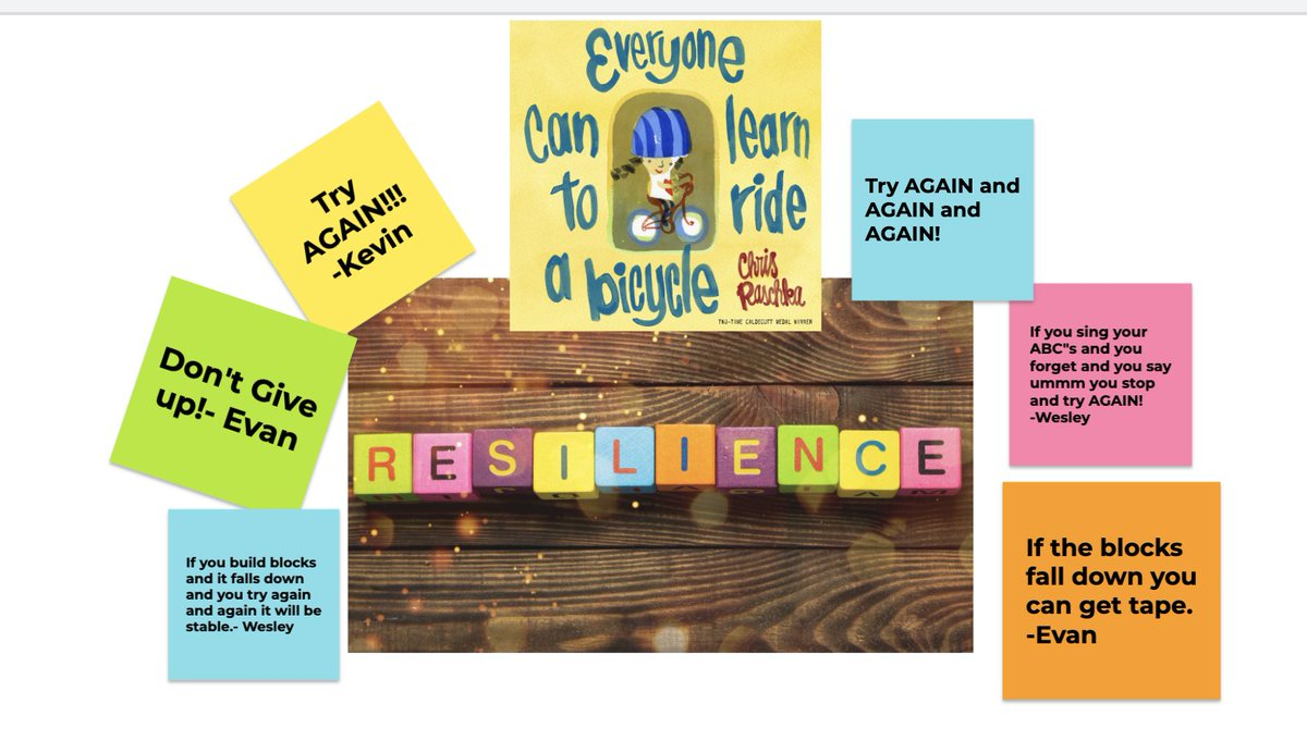 #MindsetMonday Read Aloud was focusing on RESILIENCE today!! Kinders learned that when we get stuck or fall down we can always get back up and try AGAIN!! Can't wait to see who earns a RESILIENCE crown first!! #growthmindset  @PS173Q https://t.co/FSEixCsUKC