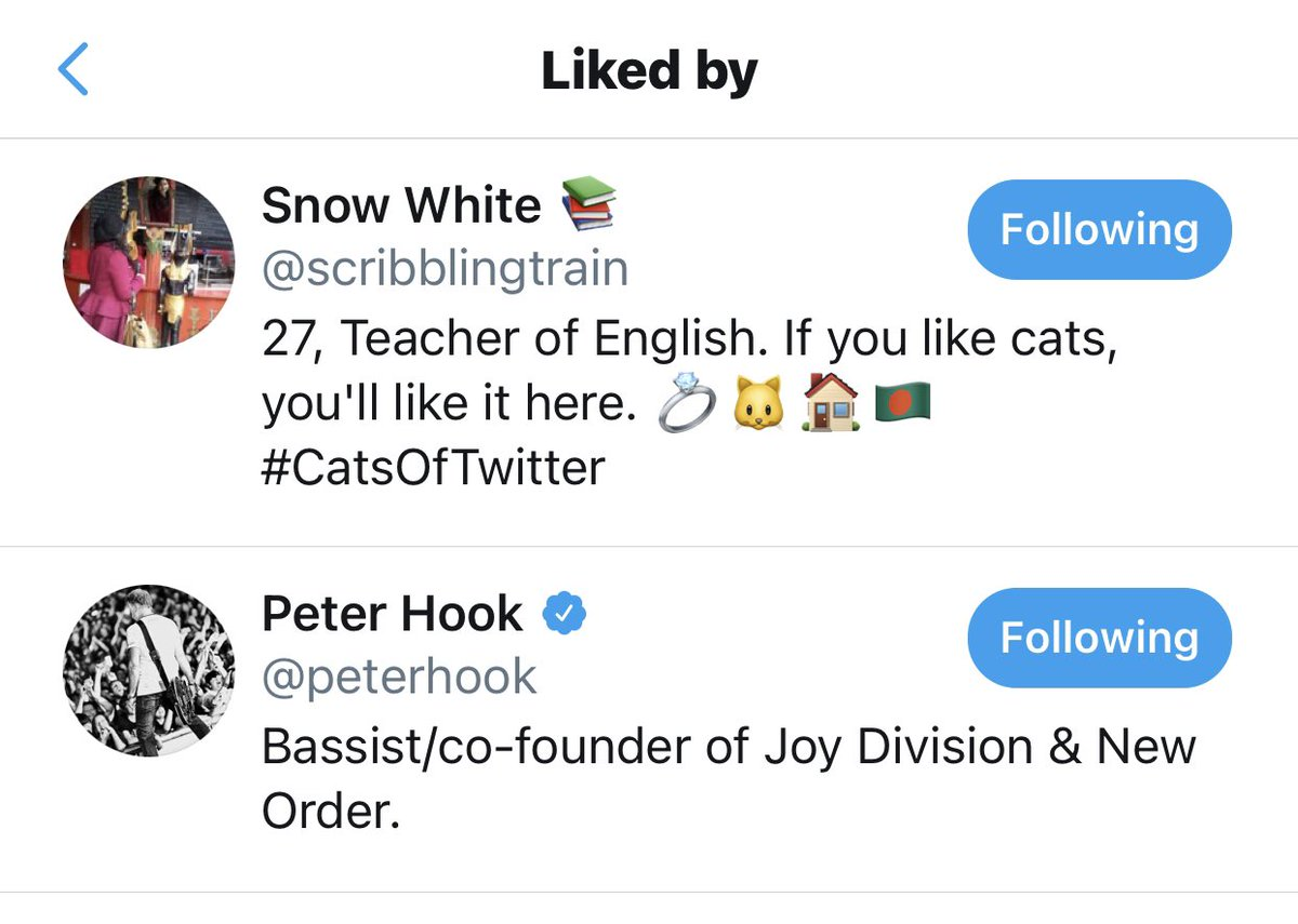 Well...there's another one ticked off the 'Twitter likes I would like to have' list 😱😱