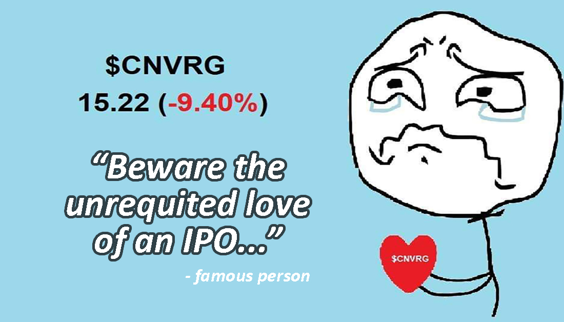 1. $CNVRG IPO craps the bed 2. $BDO profit ▲3.1% y/y 3. $UBP profit ▲11% y/y; 9M way better than BDO tho 4. $PLC profit ▼114% y/y  Today's email: https://t.co/KQkkYUG1iy  Join the Barkada: https://t.co/JNJ24g85dj  #PSEiupdate #pinoy #philippines  #filipinos @PhStockExchange https://t.co/deyL4eCRHU