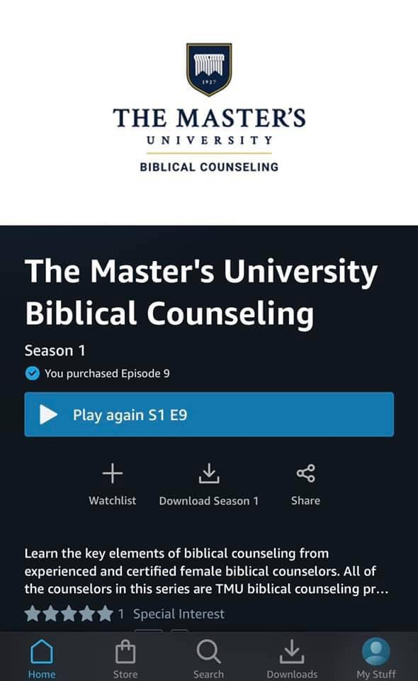 Did you know that @shelbicbc and @iamkimberlyc and others are now on Amazon with counseling videos???  These follow the @acbc model of counseling and will aid you in the certification process. https://t.co/w5bgjELA5E
