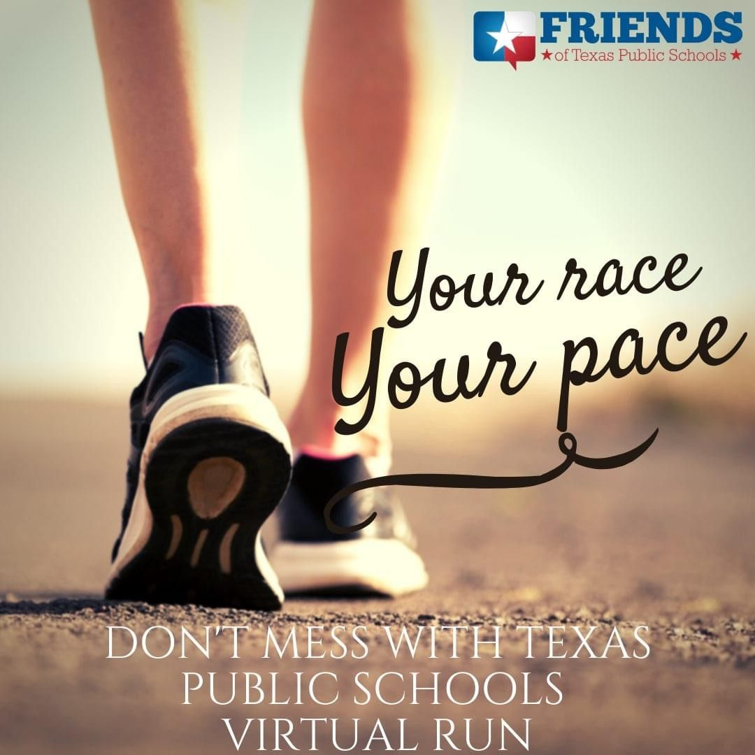 """Friends! The link is still live to sign up for the 1st ever """"Don't Mess With Texas Public Schools"""" 5k/1k supporting @FRIENDStxps! Sign up today, #run or #walk your event between October 31st & November 8th, + post your pics for all to see 😁  Sign up: https://t.co/fevFRulACH https://t.co/27WJijryuh"""