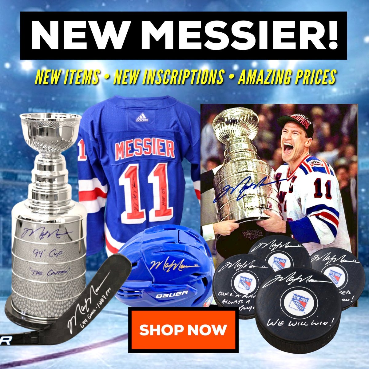 New MESSIER GEAR!!!   Come check out some EXCLUSIVE product with #Rangers and #NHL legend Mark Messier  Only @ CX  #messier #rangers #hockey #halloffame https://t.co/gB4cK60Thz