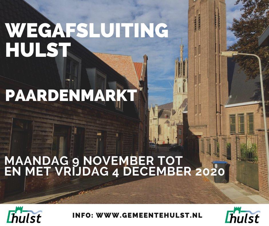 test Twitter Media - Paardenmarkt in #Hulst - deel naast Hervormde kerk - afgesloten vanaf 9 november t/m 4 december 2020.  Meer lezen op https://t.co/KWIXWmd0pQ https://t.co/ND7lLldIJd