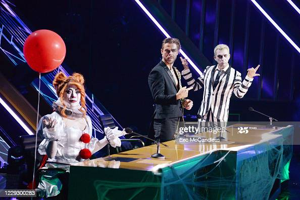 """Carrie Ann Inaba, Derek Hough & Bruno Tonioli on """"Villains Night"""" during the seventh week live on season 29 of """"Dancing with the Stars"""" on ABC More 📸 #DWTS 👉  #DancingWithTheStars #CarrieAnnInaba #DerekHough #BrunoTonioli"""