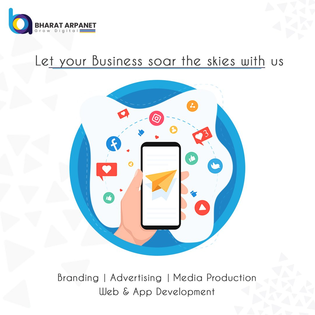 Let Your Business Soar The Skies With Bharat Arpanet  To Know More Visit : https://t.co/KGz0VGgJe7  #BharatArpanet #DigitalMarketing #DigitalMarketingServices #marketingdigital https://t.co/rUZHPsCAYA