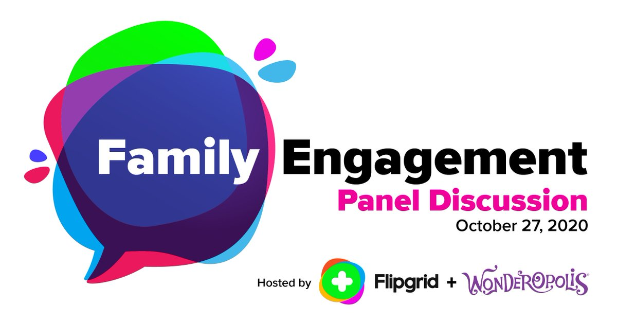 I am super excited for this Family Engagement Panel Discussion Tuesday, Oct 27 with @Wonderopolis and @Flipgrid + some special guests!  Set a reminder and join the fun!  https://t.co/96n24Nm3EG  #FlipgridForAll 💚 https://t.co/tPDPcSvRlZ