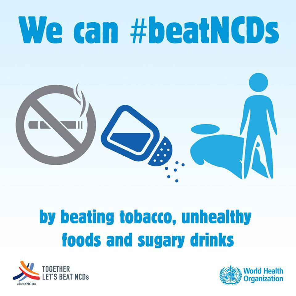 You can beat #NCDs easily by stop smoking 🚭, avoid consuming unhealthy food 🍔and sugary drinks 🍹🍹🥤  #BeatNCDs https://t.co/cY12bg4lGQ