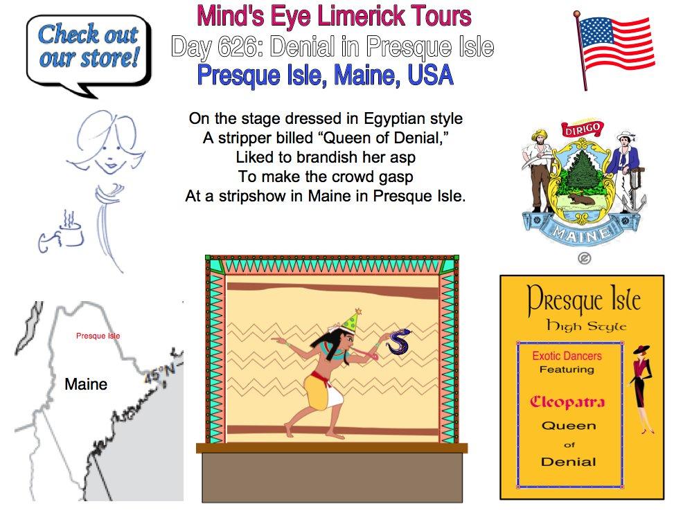 #Limerick #fun #humor #store #PresqueIsle #Maine #QueenofDenial #Cleopatra #giftideas #asp https://t.co/OTQ0RdZ50r https://t.co/u1rSJpfJB8 https://t.co/p4aBvFbcr5