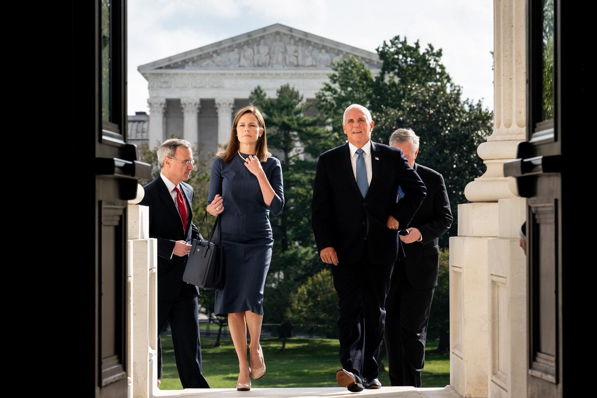 @Mike_Pence's photo on Amy Coney Barrett