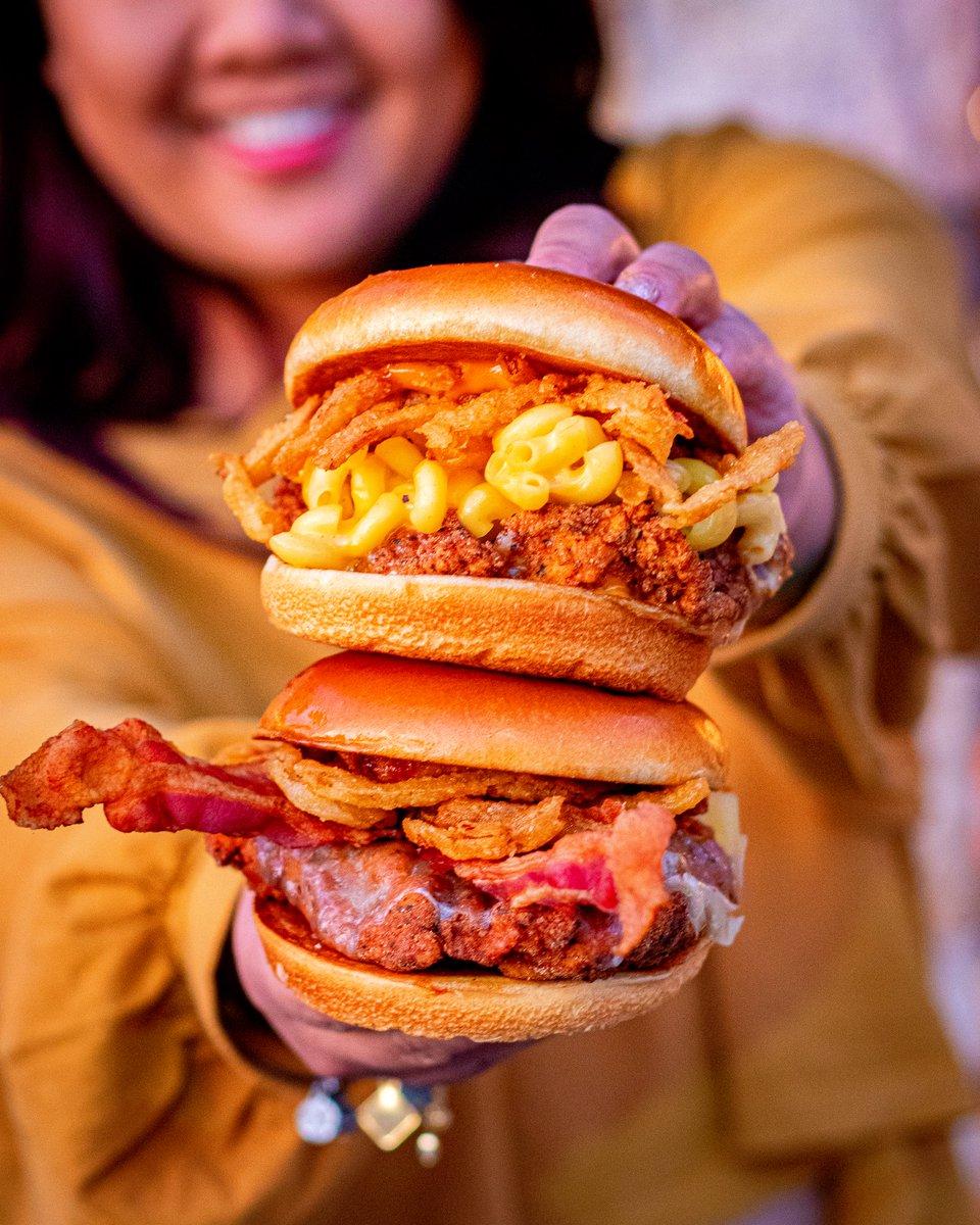 Take your pick: Charles Barkley Sandwich (top) or Big Aristotle (bottom)? 🙌🏻🐔🔥 #BigChickenShaq