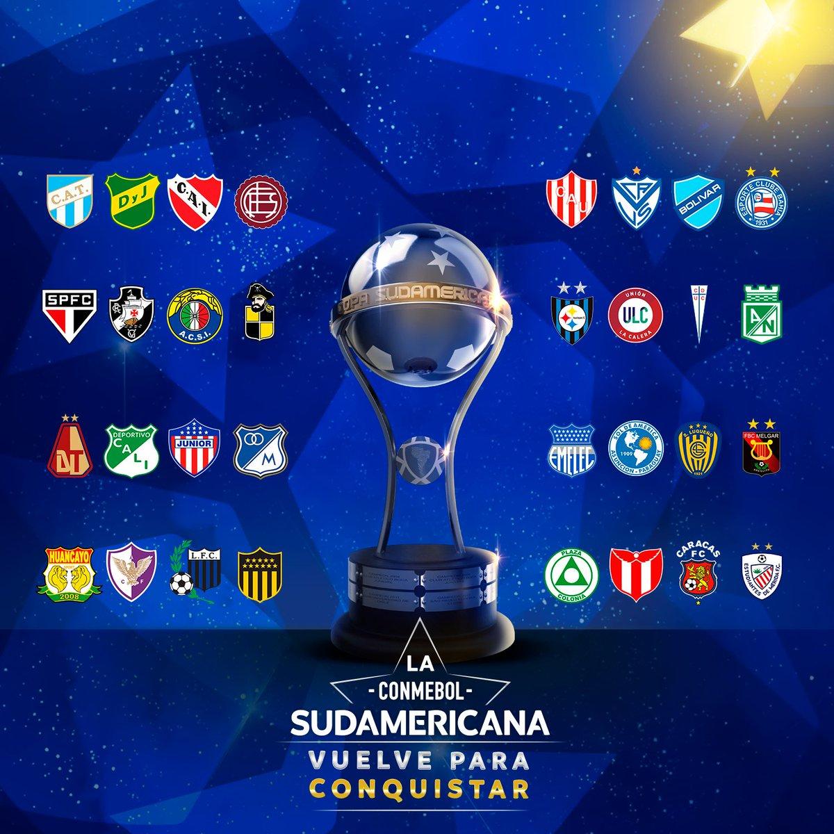 😍 ¡Llega el día! Este martes vuelve la #Sudamericana.  3⃣2⃣ ilusiones detrás del sueño de alcanzar #LaGranConquista.   🤔 ¿Quién será el campeón? https://t.co/ZW564yD1vg
