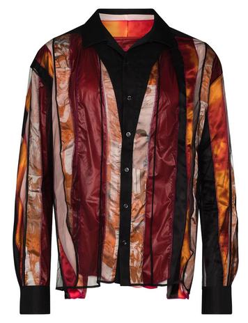 『Do you… ?』MV松本潤くん 着用衣装 シャツ今週はMステでも『Do you… ?』が聴けるので今から楽しみですね!潤くんの着ているシースルーの布に何パターンかの色や柄の布がドッキングされたストライプ 柄になったシャツ。#松本潤 #Thisis嵐 #嵐 #ARASHI