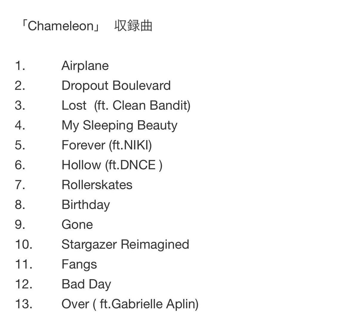 Chameleon 収録曲