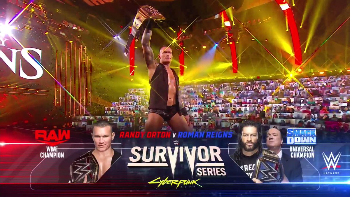Can't wait to see what unfolds on this #MomentOfBliss ...  But also THIS #SurvivorSeries match! 👀  #WWERaw @RandyOrton https://t.co/t4qJli53yO