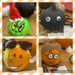 Image for the Tweet beginning: SJS Library Storybook Character Pumpkins