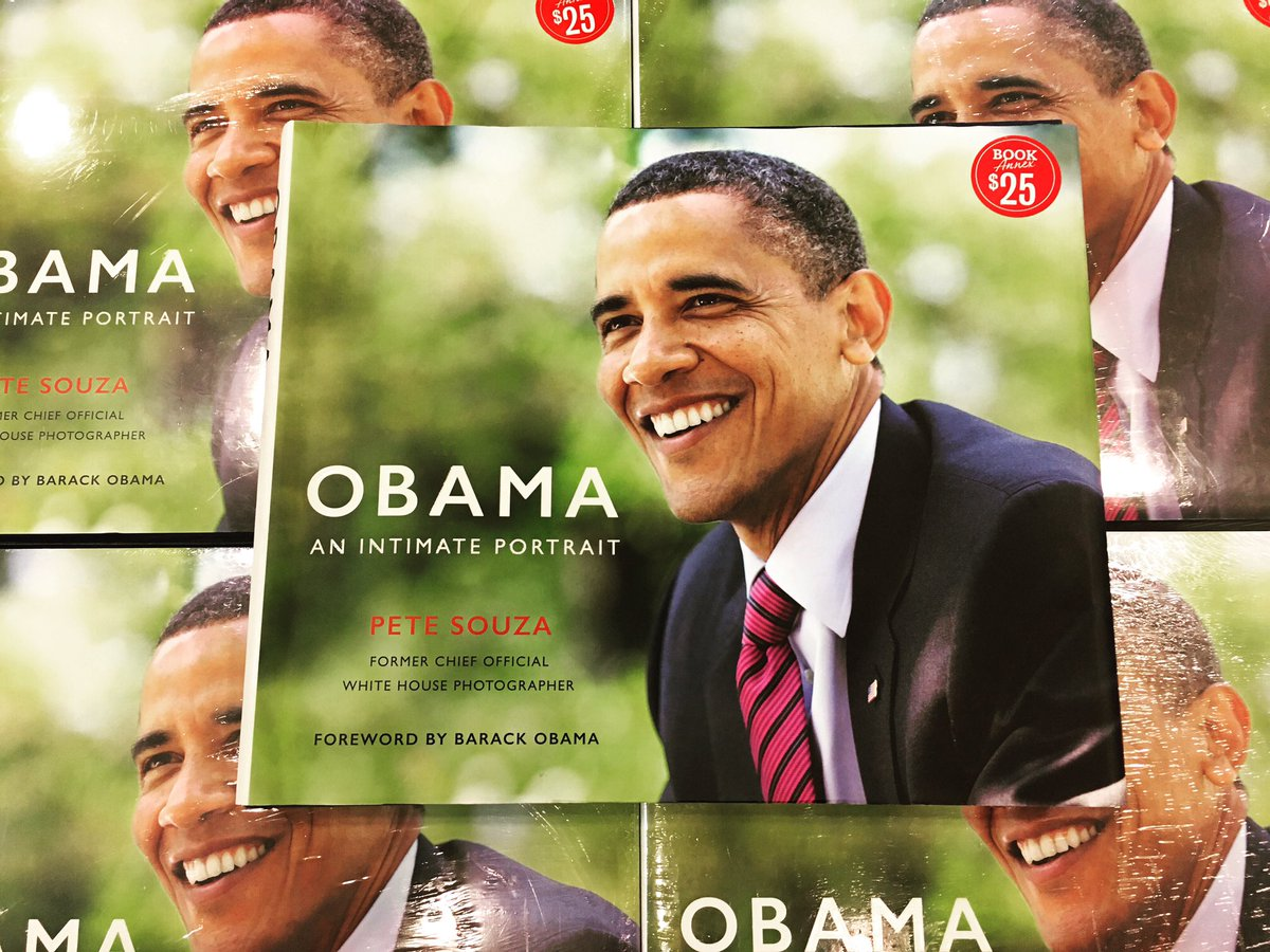 """What a steal! Pete Souza's book of photos during the Obama administration, """"Obama: An Intimate Portrait"""" is part of our Book Annex and on sale for $25! #barnesandnoble #bnmiramesa #142bn #bnbookpassion #obama #barackobama #petesouza #anintimateportrait https://t.co/gIuxi0Xafc"""