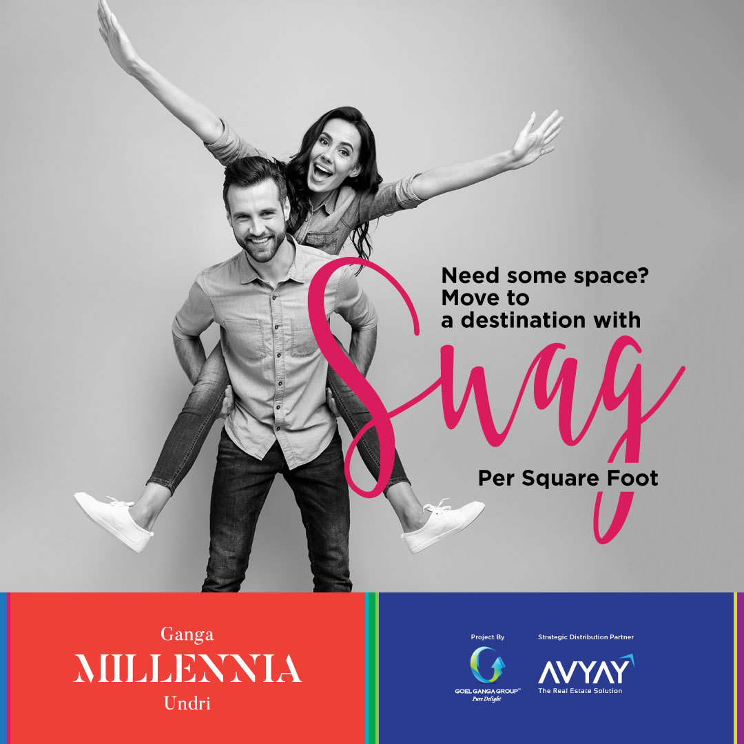 A lifestyle for millennials that is a perfect blend of intelligent homes, and Gen-Y brands along with ecological sustainability, think no more. Book today - https://t.co/CMspAmot2n . . #GangaMillenniaUndri #SwagPerSquareFoot #Pune #Undri https://t.co/9NZNy3Itud