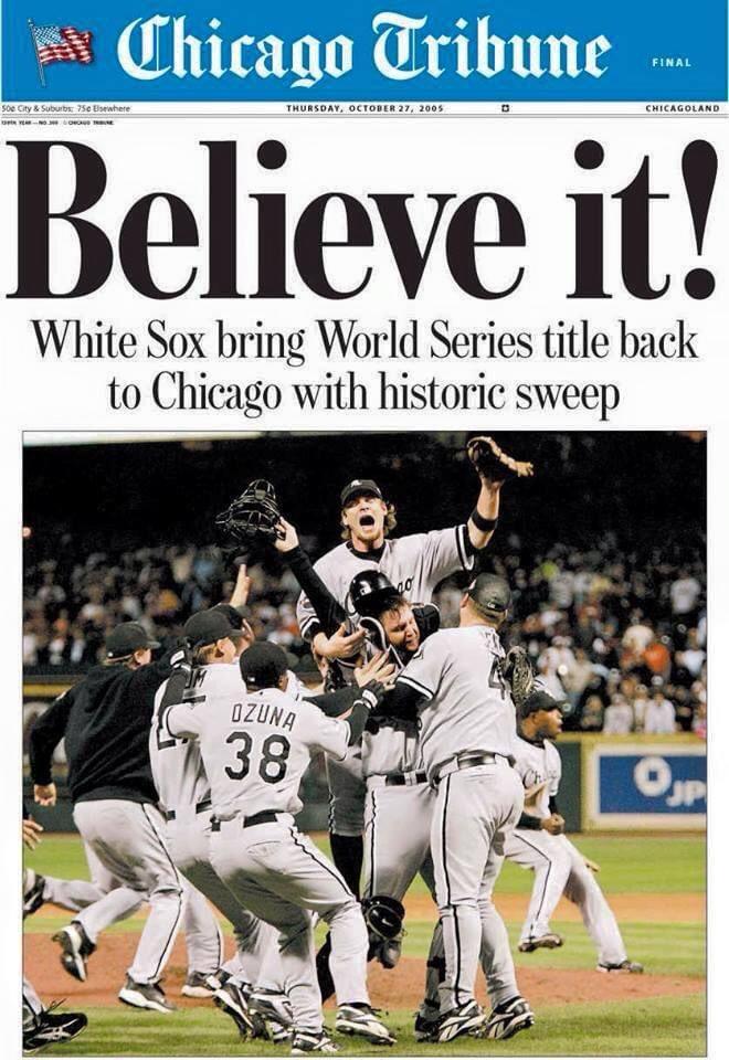 Happy anniversary, #WhiteSox and fans. https://t.co/dlgp1I5g2u