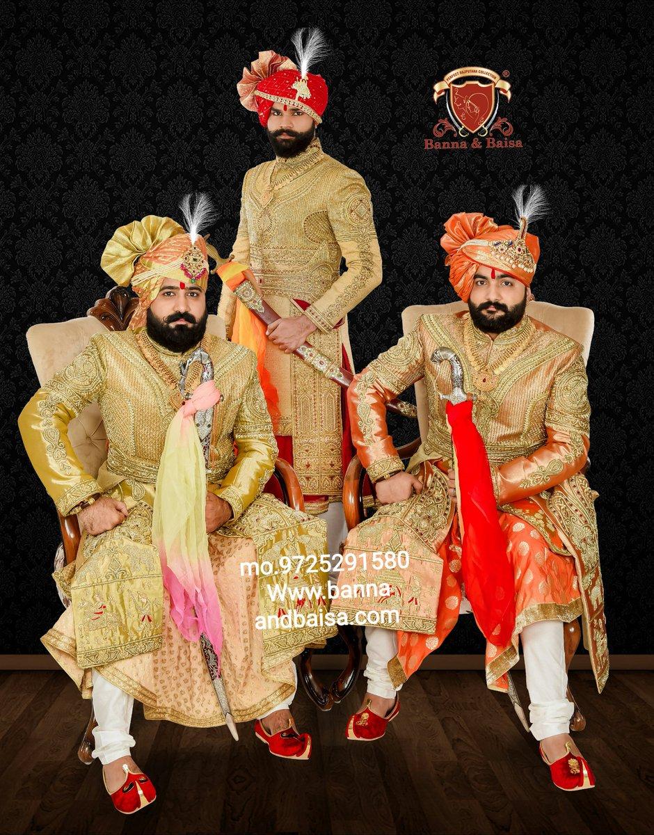 Exclusive groom collection  At Banna and baisa showroom ahmedabad  mo.9725291580 https://t.co/oCFduirZUh #angrakha  #handwork  #bannaandbaisa  #banna  #achakan  #jodhpuri  #breeches  #mojari  #royallook  #royal #indowestern #Update  #safa #dulha #SHERWANI  #Traditional #kalagi https://t.co/0dYL9aWvn1