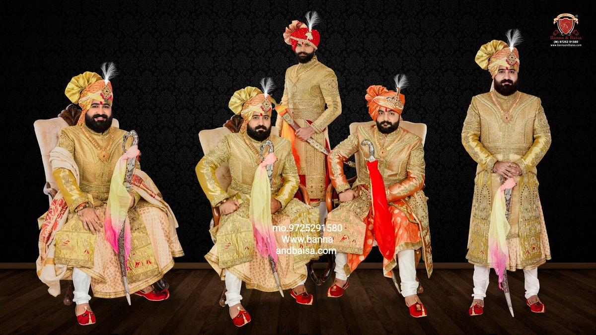 Exclusive groom collection  At Banna and baisa showroom ahmedabad  mo.9725291580 https://t.co/oCFduirZUh #angrakha  #handwork  #bannaandbaisa  #banna  #achakan  #jodhpuri  #breeches  #mojari  #royallook  #royal #indowestern #Update  #safa #dulha #SHERWANI  #Traditional #kalagi https://t.co/e7zu26hyEe