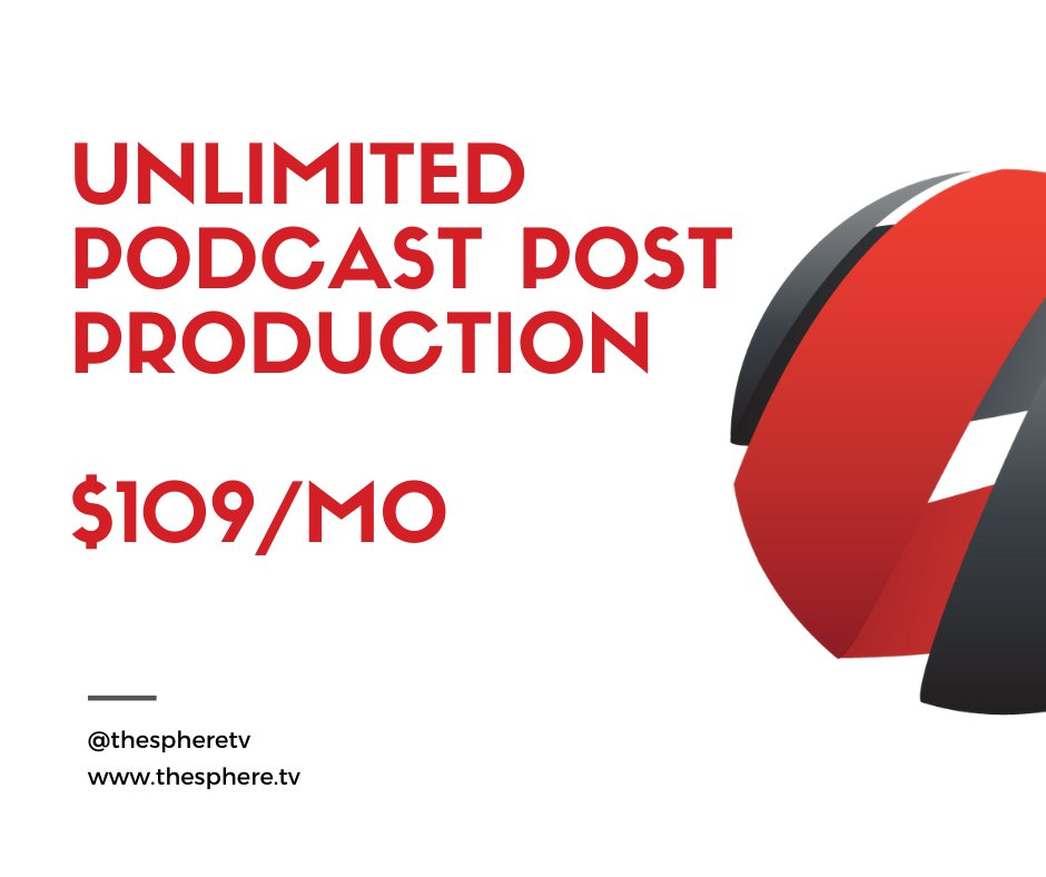 Did you know?! That's right...unlimited podcast production for just $109 a month.  Get started today!!! https://t.co/5saK4iZSfw  #podcast  #TheSphereNetwork #podcasting #podernfamily #podcastaddict #podcastlife #tunein #listen #unlimited #thebest #podcasters #TheSphere #startnow https://t.co/NNaoil80Xn