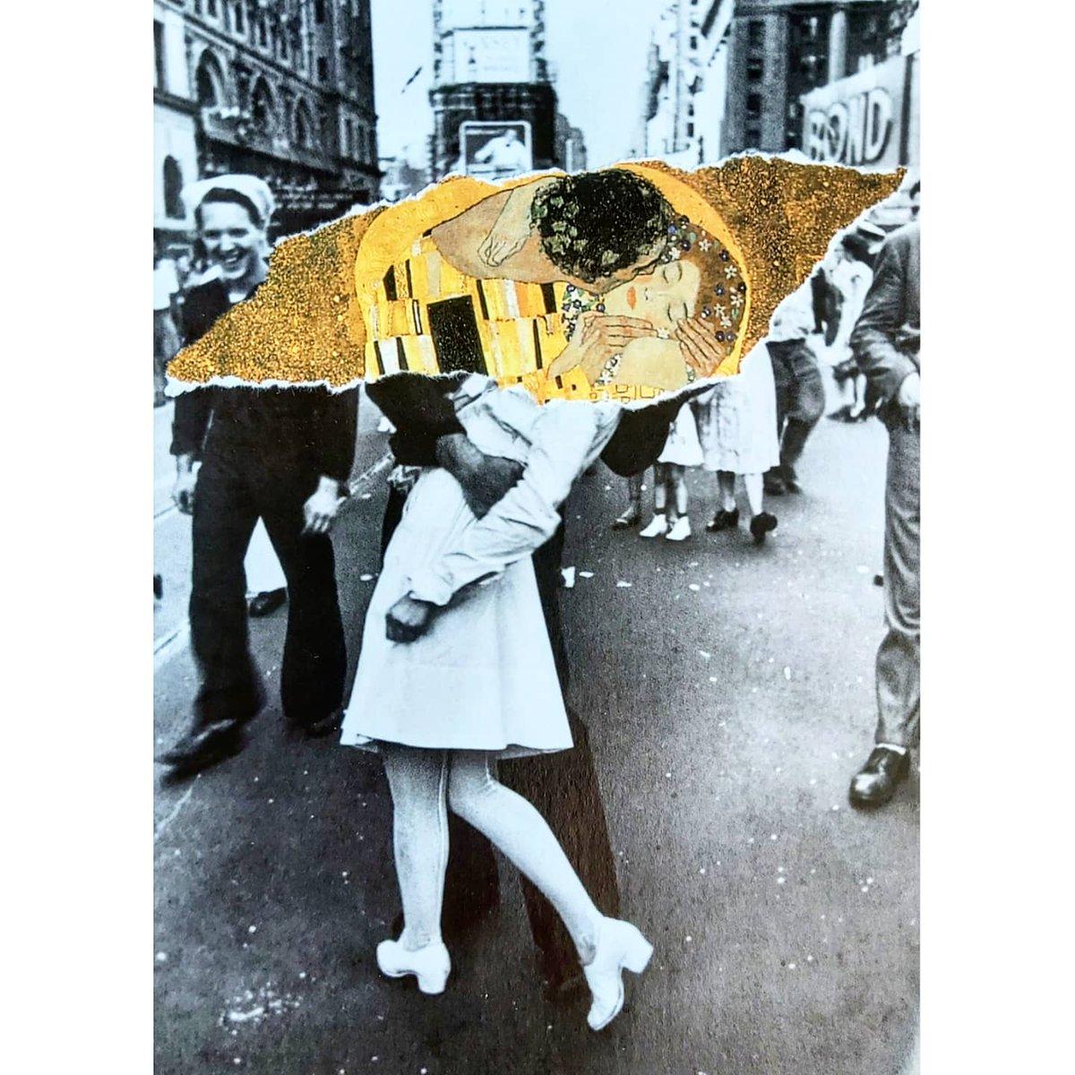 Just Kiss | Nomadecollage | analogcollage | socialcollage | propagandapapel | activistapapel  #collage #collageart #collagework #analogcollage #cutandpaste #collageartwork #handmade #painting #klimt #KISSINMYLIPS #FelizMartes https://t.co/4nmVanNzXm