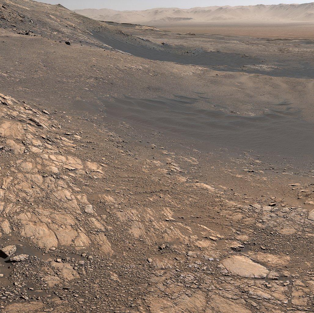 Marte é um mundo empoeirado, frio e desértico com uma atmosfera muito tênue.   O rover Curiosity da NASA capturou este panorama da superfície marciana entre 24 de novembro e 1º de dezembro de 2019.   Crédito da imagem: NASA / JPL https://t.co/Y3ExbnaFkK