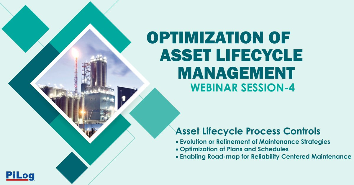 PiLog #Asset Life Process Control #Webinar 4 illustrates the influence of #data on improved maintenance strategy #planning and execution providing illustrative #insights of making an effective #decision Please join us to enable this fabulous journey - https://t.co/wcb1oe5KiQ https://t.co/YcqFYYA00c