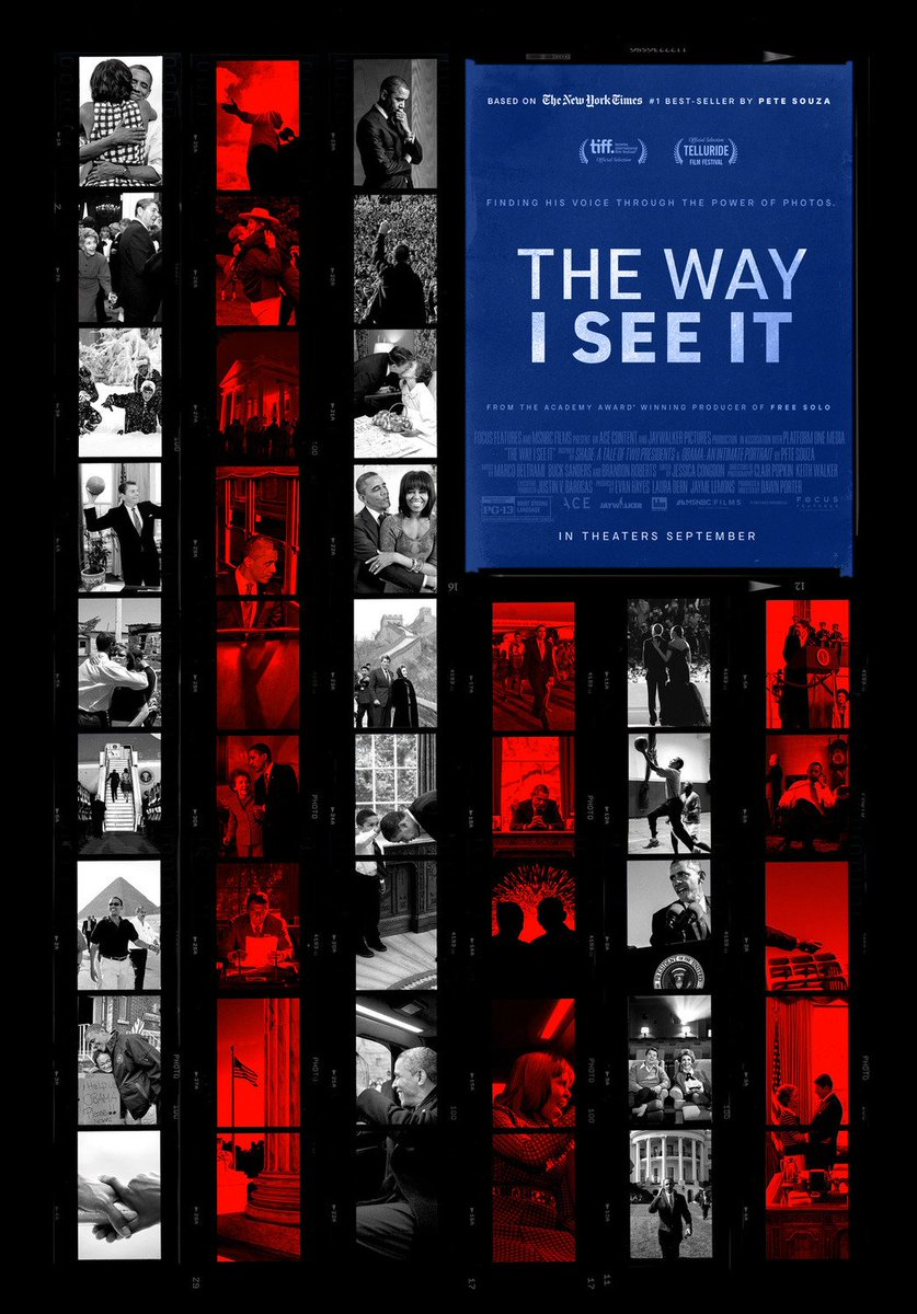 The Way I See It is a documentary by the former White House photographer (of President Reagan and President Obama), Pete Souza.   He talks about how photojournalism has the unique ability of capturing empathy, revealing human truths, & documenting what history should look like. https://t.co/ZQy618VrM0