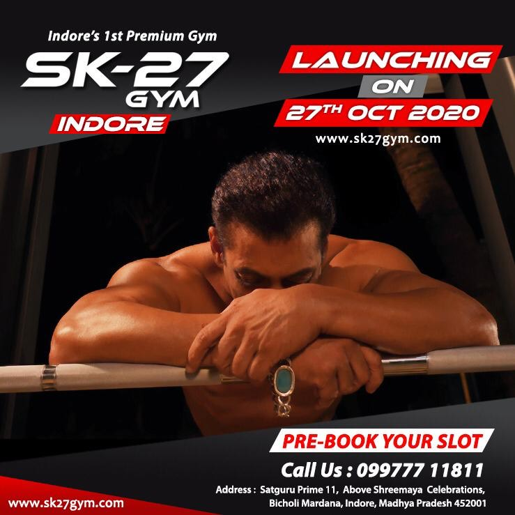 now SK-27 gym now in #indore ... stay fit n be safe #SK27GymIndore #BeingStrong #SK27Gym