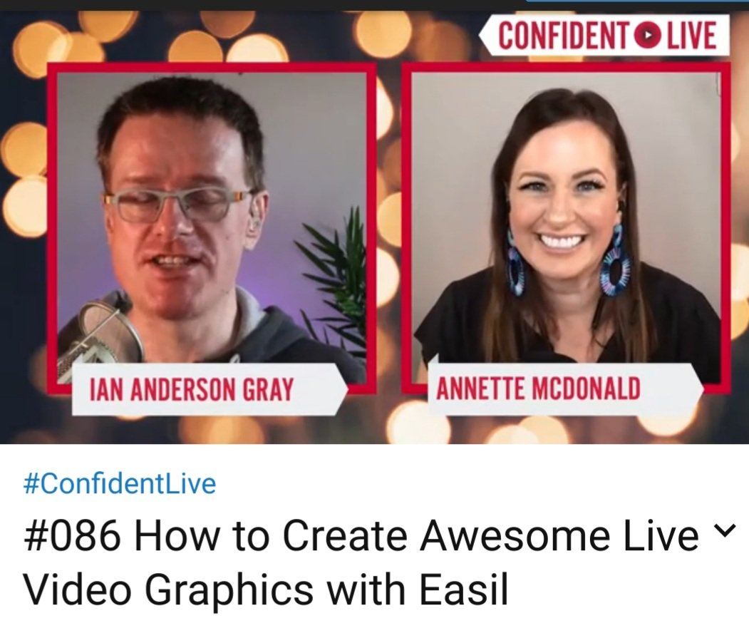 🎬🖼 Want to learn How to Create Awesome Live Video Graphics with Easil❓   REPLAY on #YouTube    @iagdotme interviewed  🎙@ItsAnnetteMcD  Founder/CEO @teameasil  #visuals #graphics #LiveVideo #marketing #diygraphics #socialmediamarketing #graphicsdesign  https://t.co/Pv7phehIii https://t.co/c7C2nBTk5X