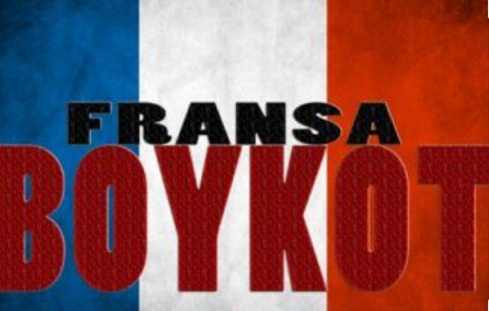 Başkan Erdoğan Nasıl ki Fransa Türk markalı mal satın alınmayın diyorsa, ben de şimdi buradan milletime sesleniyorum, sakın Fransız markalara asla iltifat etmeyin, bunları satın almayın. dedi. Reis sen dersinde ben alırmıyım artık! Sonuna kadar #FransaBoykot #FranceBoycott