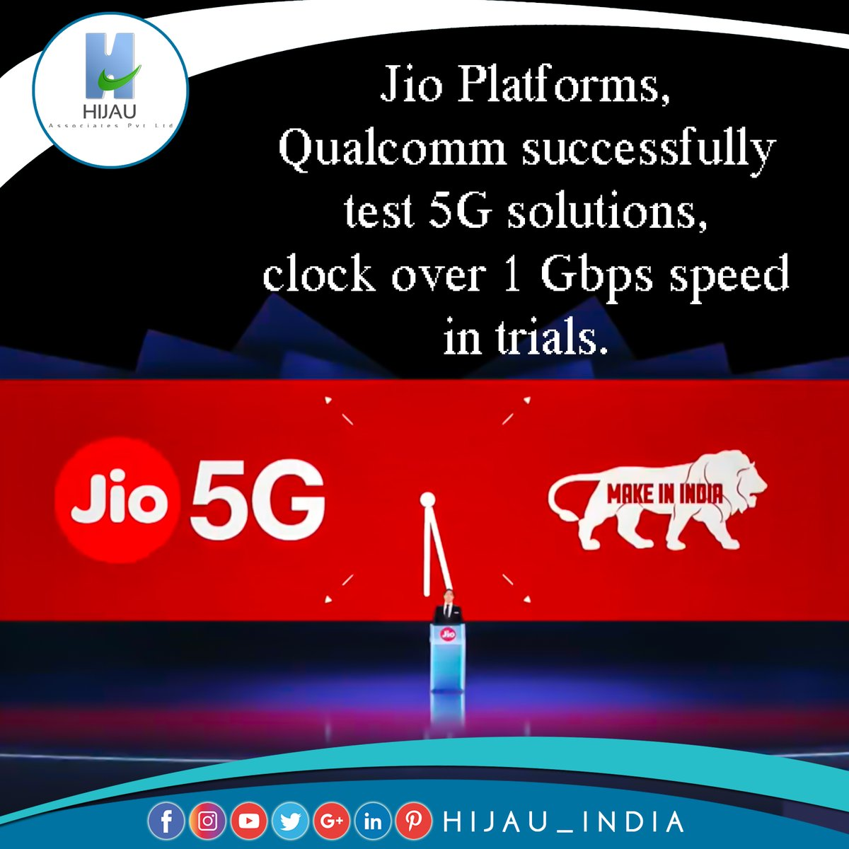 Jio Platforms, Qualcomm successfully test 5G solutions, clock over 1 Gbps speed in trials  #hijauindia #businessconsultant #businessideas #makeinindia #businessopportunities #newbusiness #india #businessnews #businessnewsupdates #startups #fdi #investindia #services  @reliancejio https://t.co/K4rduZXDeR