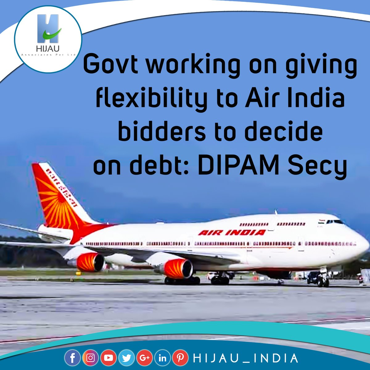 Govt working on giving flexibility to Air India bidders to decide on debt: DIPAM Secy,  #hijauindia #businessconsultant #businessideas #makeinindia #businessopportunities #newbusiness #india #businessnews #businessnewsupdates #startups #fdi #investindia #services  @airindiain https://t.co/xbWBqsd1Ed