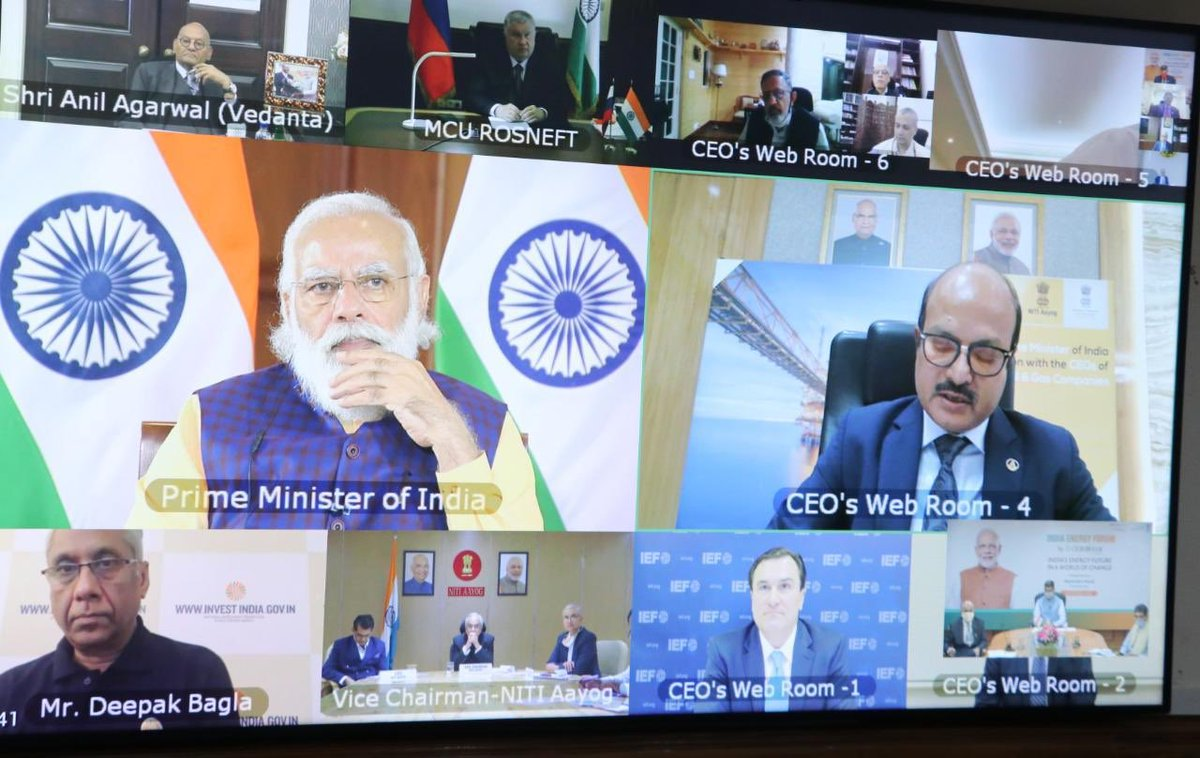 #ONGC is open to partnerships for exploration acreages under new Open Acreage Licensing Policy to monetize Oil & Gas assets quickly with latest technology: @CMD_ONGC during Roundtable with Hon'ble PM @narendramodi in #IndiaEnergyForum2020 by @CeraWeek. #PMAtCeraWeek https://t.co/eQsO55ldiA