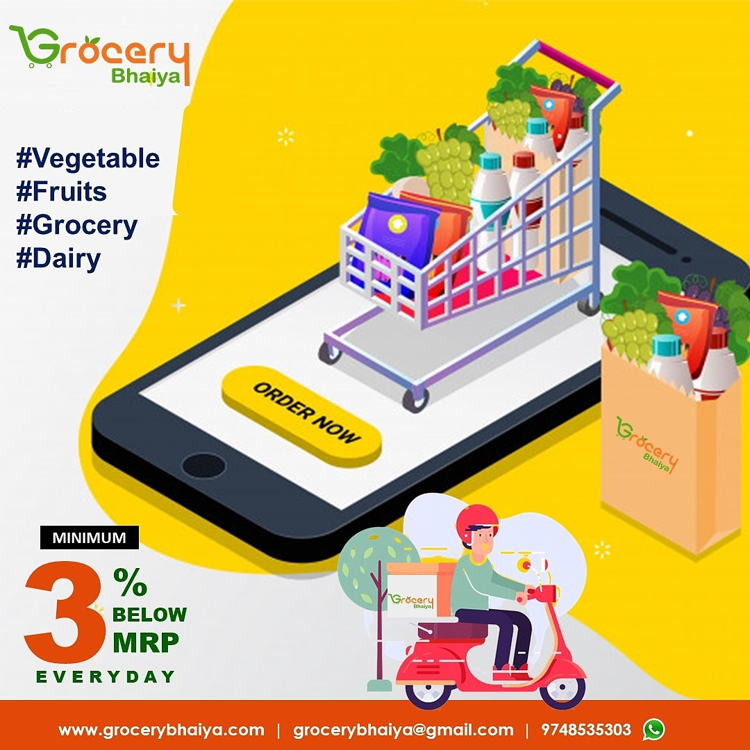 Grocery Bhaiya - A Complete Grocery Store #Vegetable #Fruits #Grocery #Dairy For Order: +91-9748535303 WhatsApp: https://t.co/dQ2DnYzADr Website - https://t.co/hrUWug8eiH  #grocerybhaiya #groceryshopping #food #shopping #supermarket #deals #groceries #fresh #foodie #discount https://t.co/TqkUfaGOup