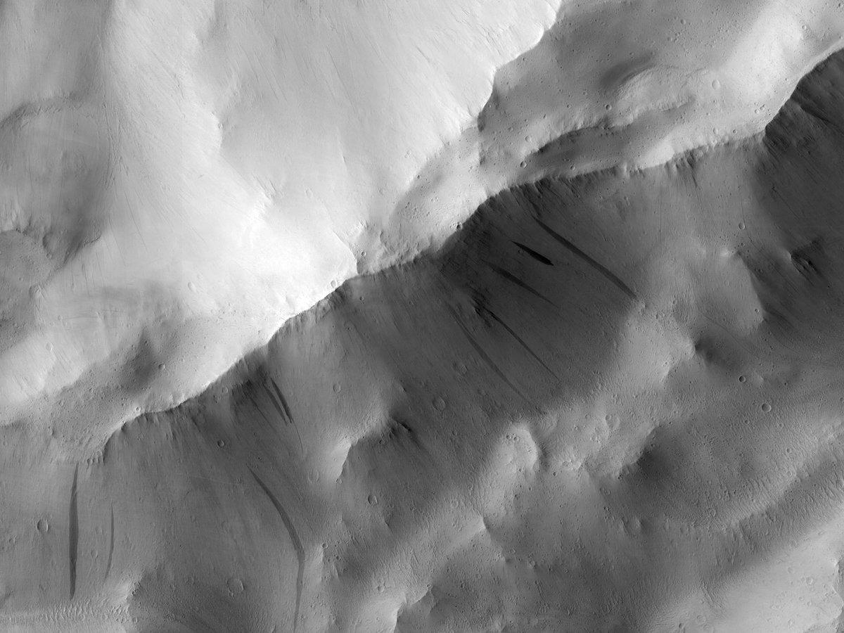 HiPOD 27 Ekim 2020 Koyu eğim çizgileri  numara: ESP_053030_2115 çekim tarihi: 18 Kasım 2017  rakım: 291 km  NASA/JPL/UArizona https://t.co/qJmf0t0akG #Mars #NASA #Turkish #astronomi #Türk https://t.co/dGI9Fb6fwR