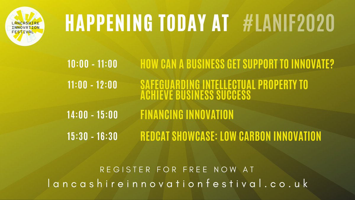 Today's schedule for #LANIF2020 - get involved in some great sessions! @lancslep  #upskillinglancashire