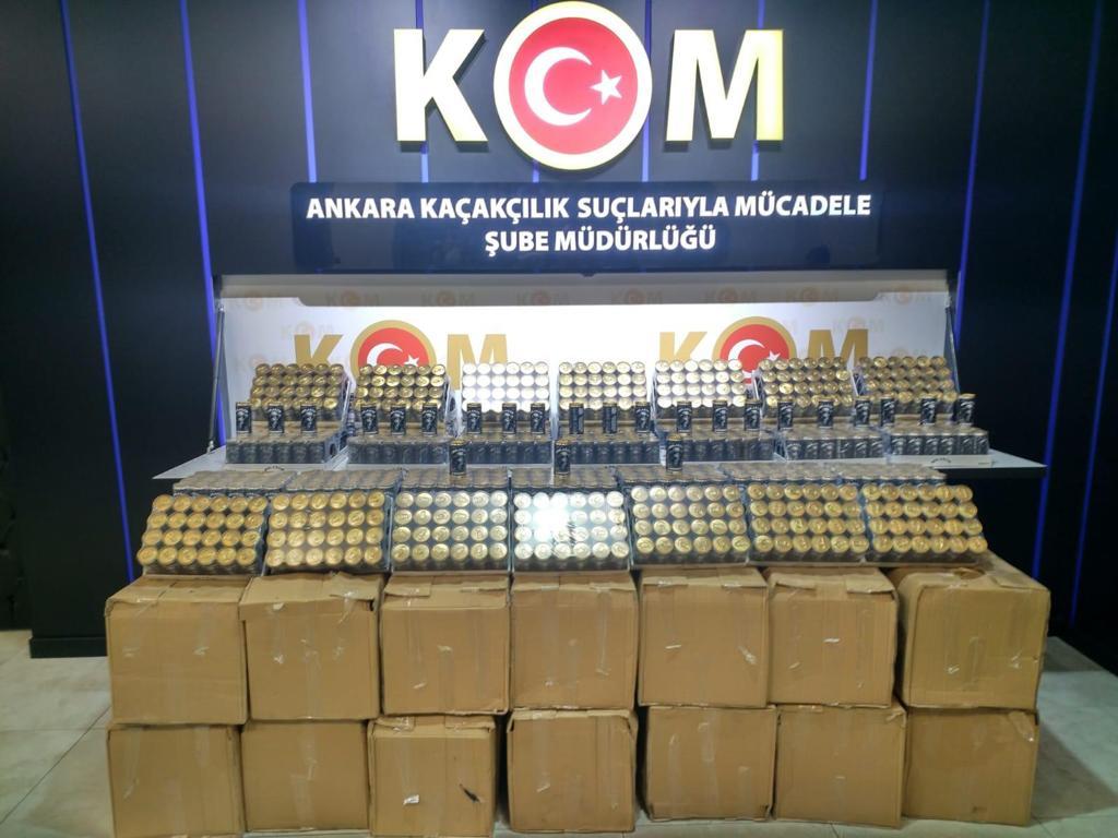 23.10.2020 tarihinde Ankara'da 1 adreste yapılan arama neticesinde; 3.192 şişe kaçak alkollü içki ele geçirilmiş ve 1 şüpheli hakkında adli işlem yapılmıştır. @EmniyetGM  #KOM #Kaçak #Alkol #Operasyon https://t.co/7LDVmGOiYS