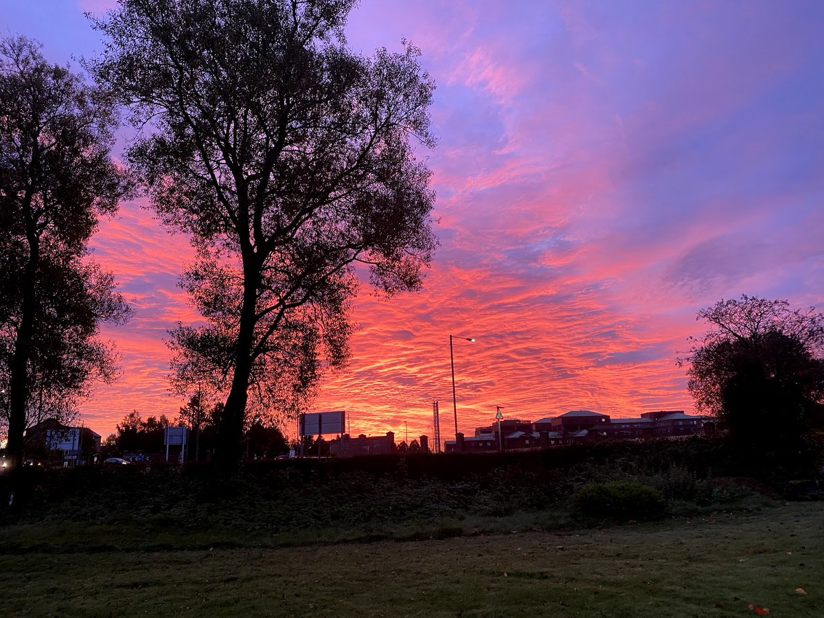 What an incredible sunrise this morning outside ECL HQ? #MorningSunrise #Dunbartonshire